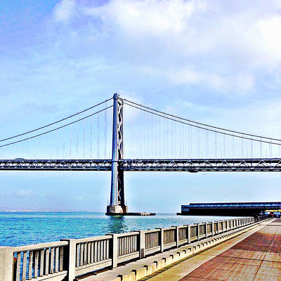 Bay Bridge Art Print by Julie Gebhardt