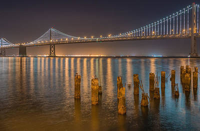 Photograph - San Francisco Bay Bridge Light Show by James Hammond