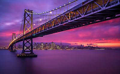 Photograph - Bay Bridge by Lincoln Harrison