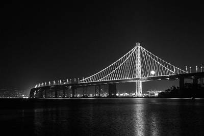 Bay Bridge Moon Art Print