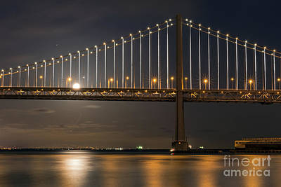Photograph - Bay Bridge Moon Rising by Kate Brown