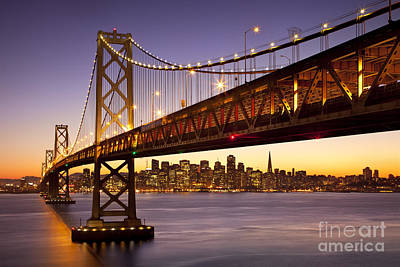 Photograph - Bay Bridge Over San Francisco by Brian Jannsen