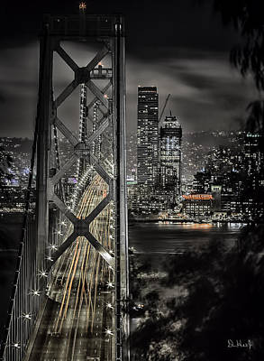 Photograph - Bay Bridge by PhotoWorks By Don Hoekwater