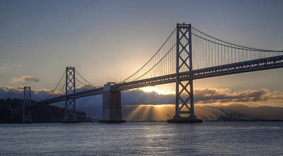Bay Bridge Sunrise Art Print