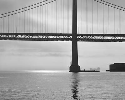 Photograph - Bay Bridge Two by Stuart Hicks