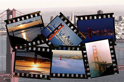 Art Print featuring the photograph Golden Gate Collage by Christopher McKenzie