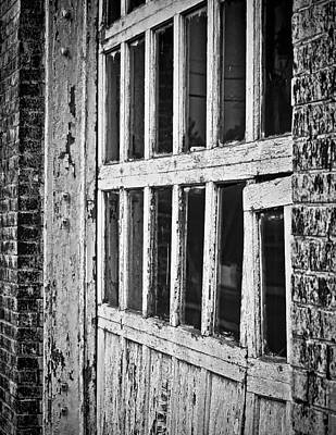 Photograph - Bay Door In B/w by Greg Jackson