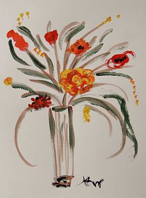 Visionary Art Drawing - Bay Flowers by Mary Carol Williams