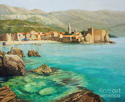 Montenegro Painting - Bay Near Old Budva by Kiril Stanchev