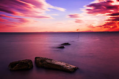 Sunset Photograph - Bay Of Hammamet Sunset / Hammamet by Barry O Carroll