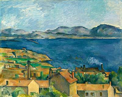 Estaque Painting - Bay Of Marseille by Paul Cezanne