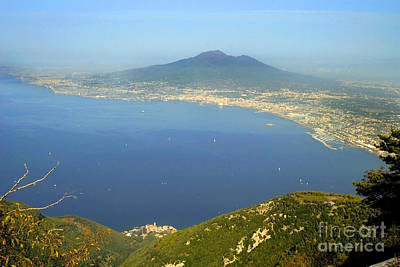 Photograph - bay of Naples with Vesuvius by Brenda Kean