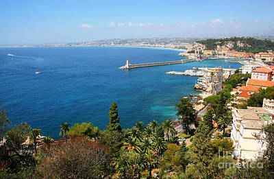 Photograph - Bay Of Nice At Cote D'azur by JR Photography