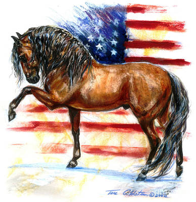 4th Of July Painting - Bay Patriot by Tere Goldstein