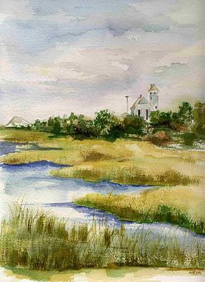 Bayside Painting - Bay Side Sandy Hook by Jane Getty
