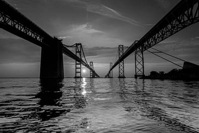 Chesapeake Bay Photograph - Bay Bridge Strength by Jennifer Casey