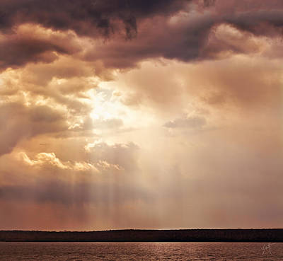 Photograph - Bay Sunset - Signed by Barbara Smith