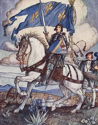Knight Drawing - Bayard, Illustration From Bayard The by Herbert Cole