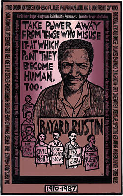 Humanity Mixed Media - Bayard Rustin by Ricardo Levins Morales