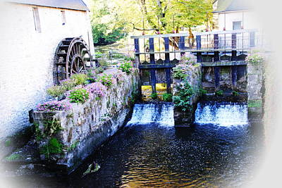 Photograph - Bayeaux Water Mill Impression by Jacqueline M Lewis