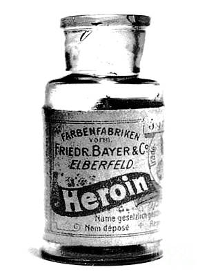 Photograph - Bayer Company Sells Heroin Around 1900 by Merton Allen