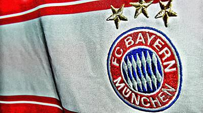 Champion Digital Art - Bayern Munchen Poster Art by Florian Rodarte