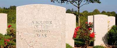Photograph - Bayeux British Cemetery Unknown Soldier by Weston Westmoreland