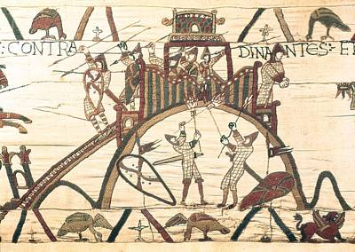 Tapestries Textiles Photograph - Bayeux Tapestry. 1066-1077. Detail by Everett