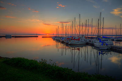 Autumn Photograph - Bayfield Wisconsin A Safe Harbor by Wayne Moran