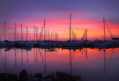 Best Sailing Photograph - Bayfield Wisconsin Magical Morning Sunrise by Wayne Moran