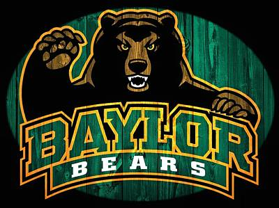 Baylor Bears Barn Door Art Print