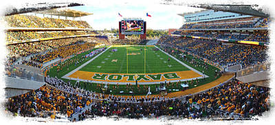 Athletes Royalty-Free and Rights-Managed Images - Baylor Gameday No 3 by Stephen Stookey