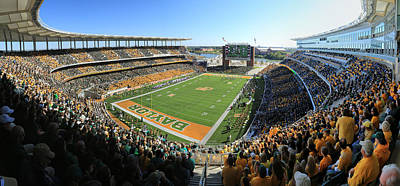 Athletes Royalty-Free and Rights-Managed Images - Baylor Gameday No 5 by Stephen Stookey