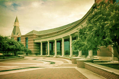 Baylor Sciences Building Art Print by Joan Carroll