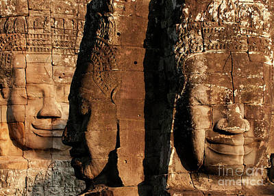 Photograph - Bayon Faces 01 by Rick Piper Photography