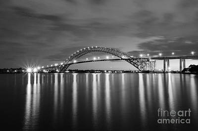 Bayonne Bridge In Black And White Art Print by Paul Ward