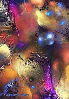 Abstract Digital Painting - Bayou  by Francoise Dugourd-Caput