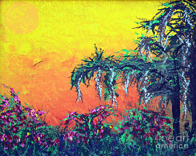 Art Print featuring the painting Bayou Honeymoon by Alys Caviness-Gober
