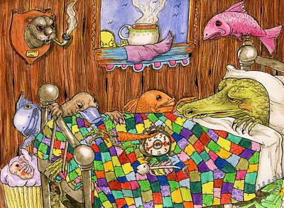 Cabin Window Drawing - Bayou by Julie McDoniel