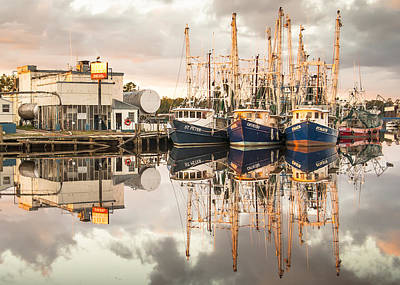 Bayou La Batre' Al Shrimp Boat Reflections 40 Art Print