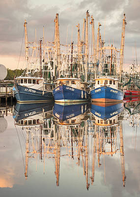 Bayou La Batre' Al Shrimp Boat Reflections 41 Art Print