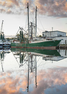 Bayou La Batre' Al Shrimp Boat Reflections 42 Art Print