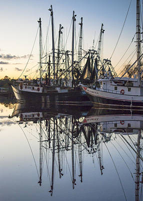Bayou La Batre' Al Shrimp Boat Reflections 43 Art Print