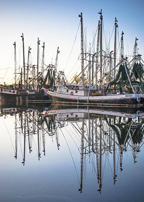 Bayou La Batre' Al Shrimp Boat Reflections 44 Art Print