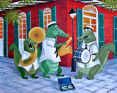 Painting - Bayou Street Band by Valerie Carpenter