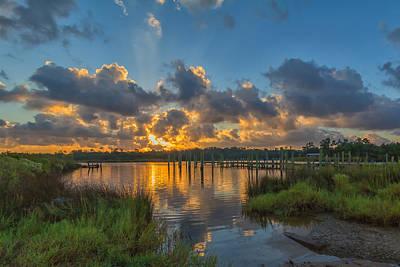 Bayou Sunrise Art Print by Brian Wright