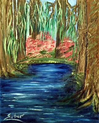 Rocks Painting - Bayou by Suzanne Surber