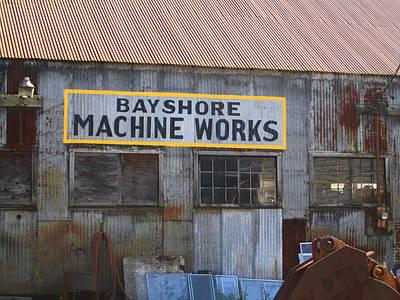 Bayshore Machine Works  Art Print by Kym Backland