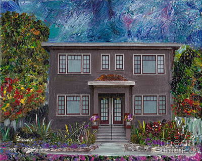 Mixed Media - Alameda Bayview 1926 - Colonial Revival by Linda Weinstock