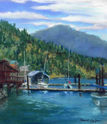 Bayview Marina Art Print by Harriett Masterson